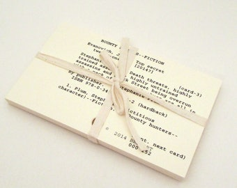Set of 25 Library Card Catalog Cards - Card Catalogue - Authentic - New