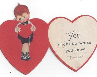 Vintage 1920's Kewpie Doll Valentine