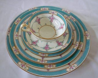 Six-Six piece place settings Minton China