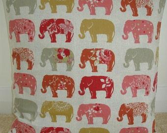 "20x20 Pillow Cover Elephants Decorative Throw Red Pink Saffron Mustard Grey Elephant 20"" Cushion Sham Slip Case Pillowcase New Large Gray"