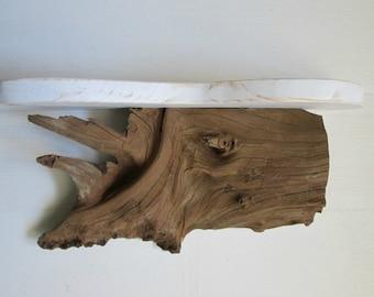 Driftwood shelf, beach decor, white shelf, rustic wood shelf, furniture, primitive shelf, cabin wall decor, wall shelf