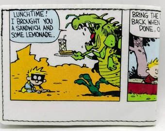 Sewn Comic Book Wallet - Calvin and Hobbes - Spaceman Spiff