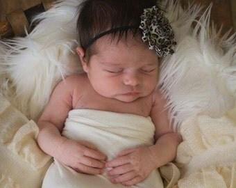 Leopard Headband Leopard Baby Leopard Baby Bow Leopard Flower Headband Newborn Baby Girl Headband