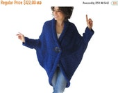 50% CLEARENCE Chunky Blue Casual Cardigan