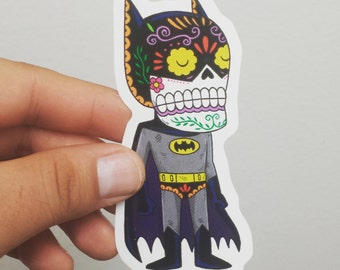 Batman Calavera Die Cut Vinyl Sticker