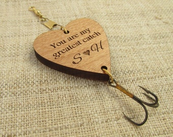 Anniversary or Wedding Fishing Lure - You Are My Greatest Catch Fishing Gift - Fishing Hook for Husband, Boyfriend, Daddy, Grandpa