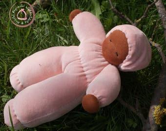 Waldorfdoll - Waldorf Doll - Cuddle Doll according to waldorf pedagogy - Waldorfdoll - Dark Skin