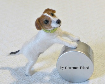 Needle Felted Dog / Handmade Custom Miniature Sculpture of your pet / Cute / Made especially for You