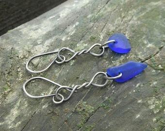 Blue Twist Earrings