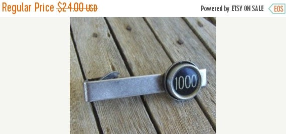 SALE Tie Clip, Custom Made for you with the Vintage Typewriter Key of your choice