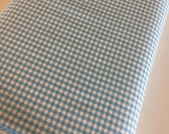 "Plaid Fabric, Gingham Fabric, Dress fabric, Appliqué fabric, Quilting Fabric, Apparel Fabric, 1/8"" Gingham Fabric in Pond by Robert Kaufman"