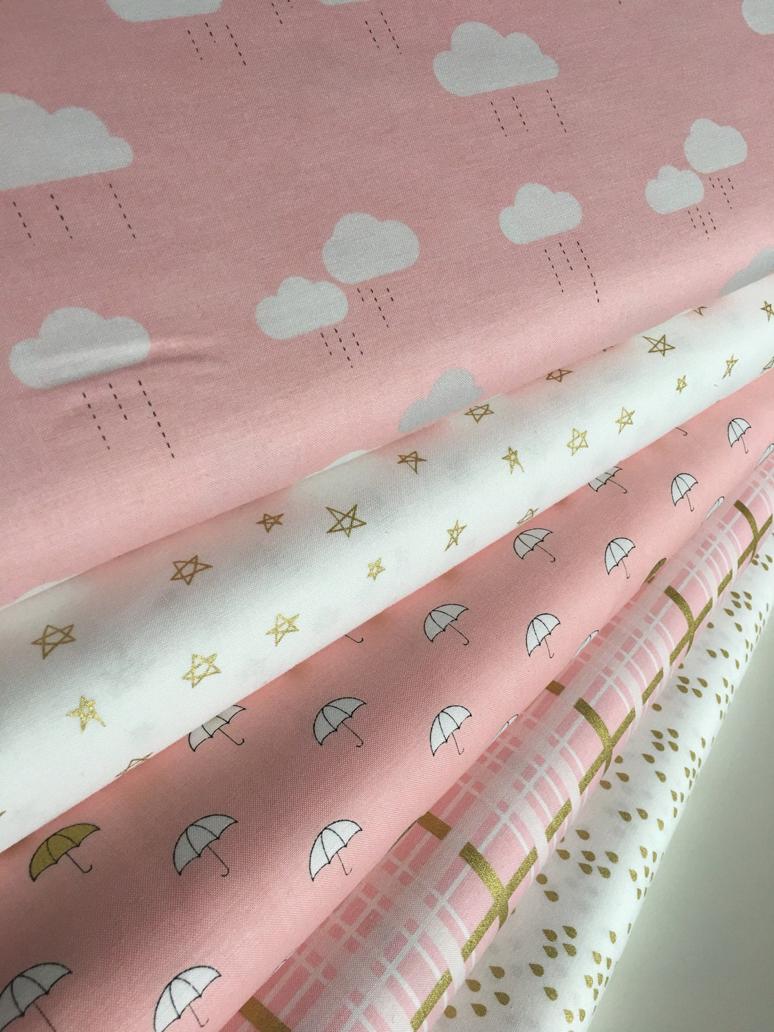 Gold fabric baby nursery gold fabric pink gold nursery for Pink nursery fabric