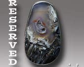 RESERVED Piranha Agate  Ring  Sterling Silver  Ring