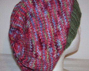 Merino Wool Slouch Hat - Slouchy Knit Beanie - Knitted Dreadlock Beanie - Wool Hipster Toque