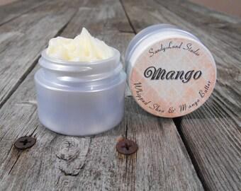 Mango~Whipped Shea Butter~Mango Butter~ Body Butter~ Silver Jar~ Deluxe Cream~Spa~Travel Size