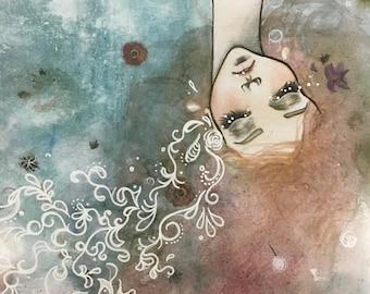 Ophelia - Hand Embelished Poster