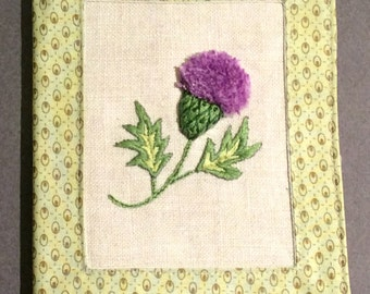 Scottish Thistle Needle Book, Stumpwork Embroidery. PDF Pattern, Instant Download, Needle Case, Hand Embroidery PDF Pattern, Sewing Gift