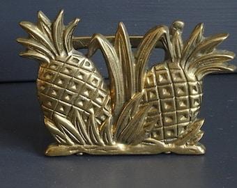 Brass Pineapple Letter Holder Napking Holder
