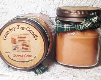 Jar Candle, Mason Jar Candle, Carrot Cake,  1/2 pint, container candle, Moeggenborg Sugar Bush
