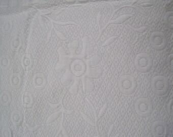 Ralph Lauren Home Decor Fabric Matelasse Pure White  Large Remnant