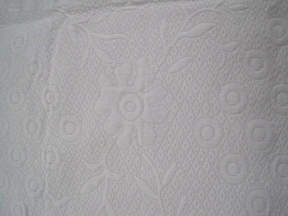 Ralph Lauren Home Decor Fabric Matelasse Pure White Large