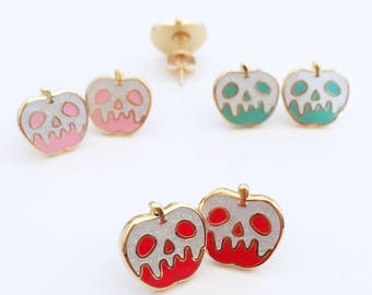 Poison Glitter Apple Earrings - Your Color Choice