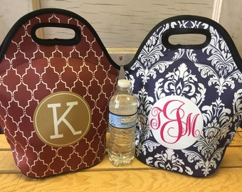 Lunch Bag, Lunch Tote, Monogram Lunch Bag, Personalized Lunch Bag, Lunch Box, Custom Lunch Tote Bag, Custom Lunch Box