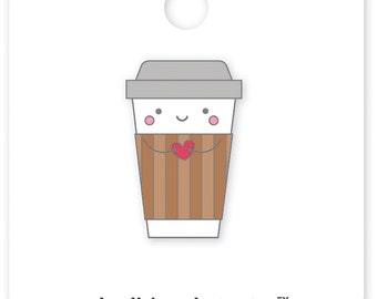 Cup O' Jo- Collectible Pin • Doodlebug Cream & Sugar Coffee Enamel Pin (5533)