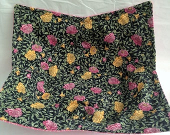 Pink Yellow Floral   Print Bowl Potholder Cozy Large Microwave Hot Pad Fabric Bowl Stocking Stuffer Great For Hot Or Cold Food