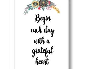 Grateful Heart Magnet, Refrigerator Magnet, Kitchen Magnet - RM013