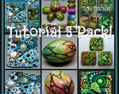 HALF OFF SALE Tutorial 3 Pack Special, Inchies, Tidepool Suncatcher and Beautiful Painted Eggs,  3 Pdf Tutorials, Bundle Price