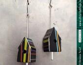 Teeny Stripe-y Birdhouses...