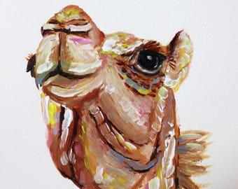 Chamomile the Camel, Camel Art, Camel Painting, Camel Portrait