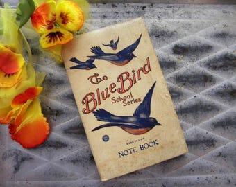 Antique Bluebird Note Book School Series Classroom Notes