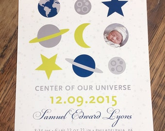 Center of our Universe nursery art print, CUSTOM, LARGE