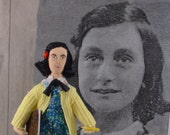 Anne Frank Doll Historical World War ll Miniature Figurine