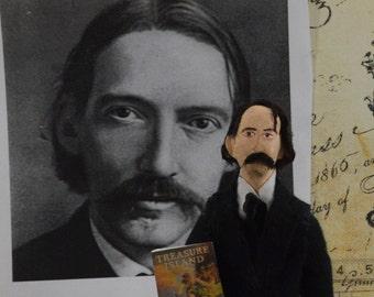 Robert Louis Stevenson Doll Miniature Author Art Character Classic Literature