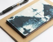 Shibori Checkbook Cover, Indigo Fabric, Gift for Her, Womens Check Book Holder
