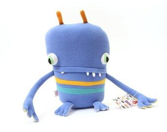 """Plush Stuffed Monster """"Blizz"""" Little Cotton Monster"""
