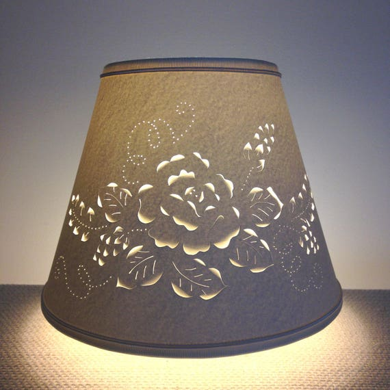 Cut and pierced rose design lampshade clip on lampshade lamp like this item aloadofball Images