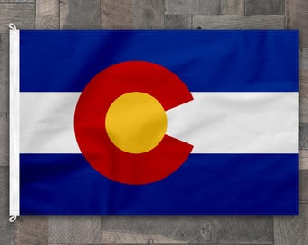 100% Cotton, Stitched Design, Flag of Colorado, Made in USA