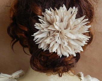 CLEARANCE - Taupe floral hairpin - hair accessory, wedding, bridesmaid, all occasion all hair types