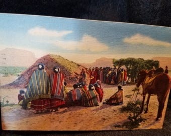 Navajo/Postcard/Morning/Squaw Dance/Ceremony