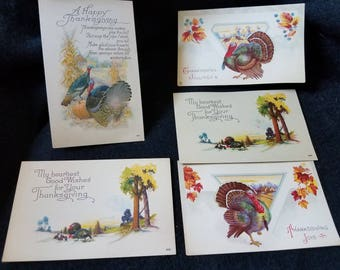 Holiday/Cards/Vintage/New Years/Thanksgiving