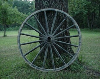 USED Amish Country Authentic Wagon Wheel