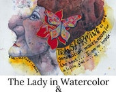 Online Painting Workshop The Lady in Watercolor and Mixed Media with immediate access
