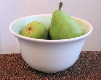 Pottery Serving Bowl,  Mint Green Medium Stoneware Bowl, Handmade Wheel Thrown Ceramic, Housewarming Gift