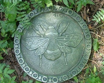 RESERVED for darleenleonard1  Concrete Bumble Bee Stepping Stone (Moss) Garden Sculpture