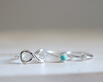 Infinity Ring. Sterling Silver Infinity Ring. Infinity Silver Ring, Infinity Jewelry, Stacking ring, Love Infinity ring, Valentine's ring.