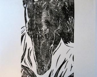 BirdsforBirds Jackie greyhound art block print
